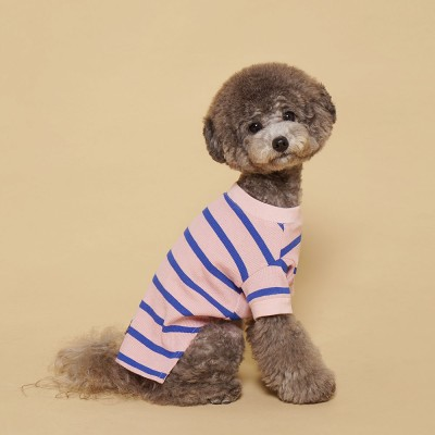 Fresh Stripe Tee-Shirt Pink