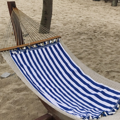 Stripe Blue- Beach Towel