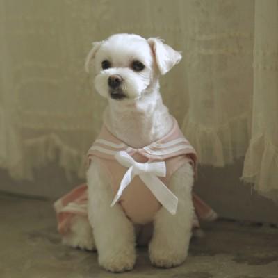 linen marine dress (pink)