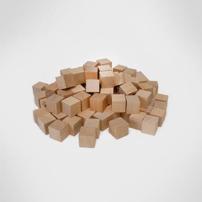 (가베가족)KS0149 큰솔2.5cm원목쌓기나무 100pcs_(1397626)