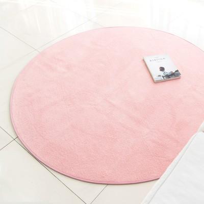 심플 비비드 핑크 원형러그