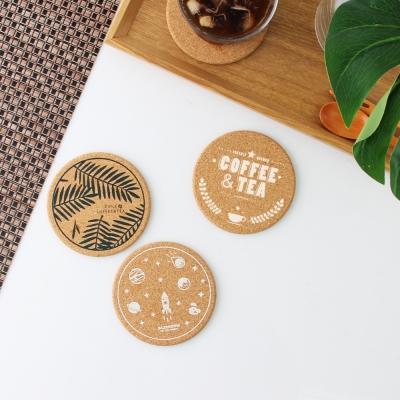 데이즈룸 디자인 일러스트 코르크 코스터 컵받침-3종