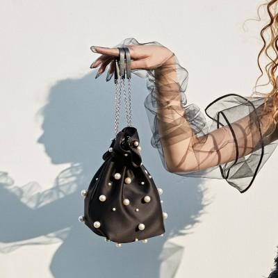 ALICE PEARL POUCH BAG MINI_BLACK