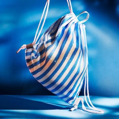 SHINNING DRAWSTRING BAG_BLUE