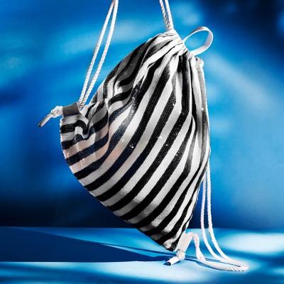 SHINNING DRAWSTRING BAG_WHITE