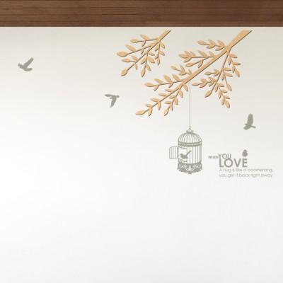 우드스티커- 바람가지 (반제품) 나무 W491