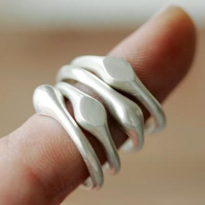 [normaldott] volume silver ring _ 2 types