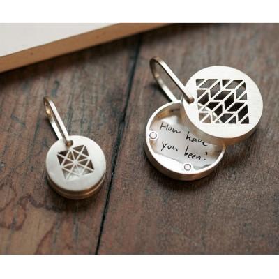 [normaldott] Silver magnet locket pendant | round type