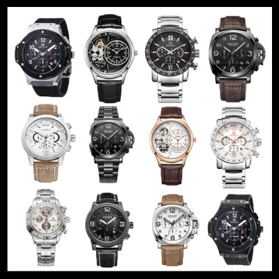 MEGIR 정품 최고급 남성손목시계/가죽시계/메탈시계