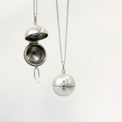 [normaldott] Sphere silver locket pendant | 2 types