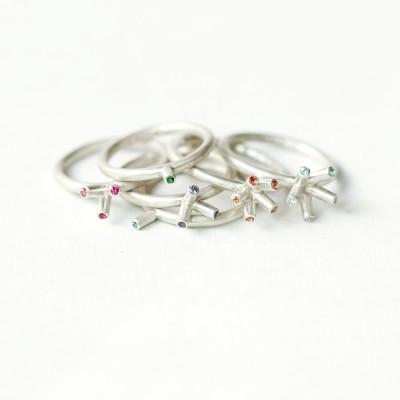 [normaldott] point & line ring | 3 types