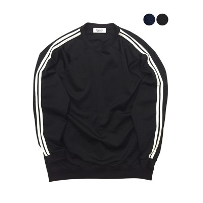 Two Line Jersey Sweat Shirt (2color)(unisex)