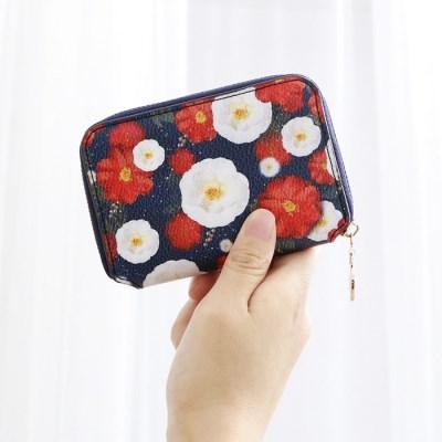 디랩x마리몬드 Card Wallet - 동백(네이비)