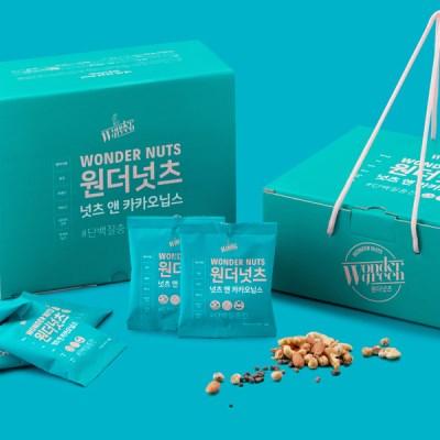 단백질 충전! 원더넛츠 넛츠&카카오닙스 1Box(28팩/4주)
