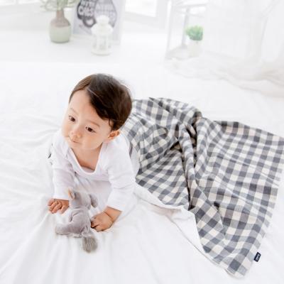 코니테일 코지 블랭킷 - 그레이체크 (극세사 아기담요)