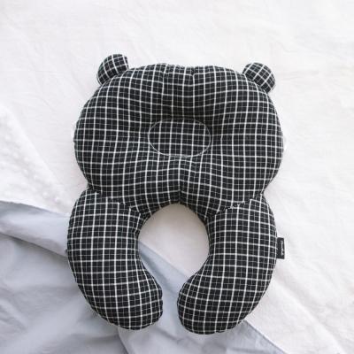 코니테일 아기 목베개 - 블랙체크 (유모차목쿠션)