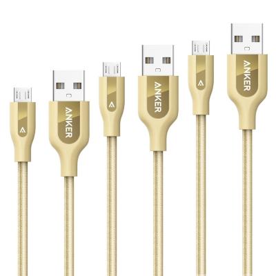 앤커 파워라인+ 마이크로 USB 케이블 골드 에디션 (0.3m+0.9m+1.8m)