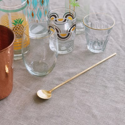 Gold muddler spoon