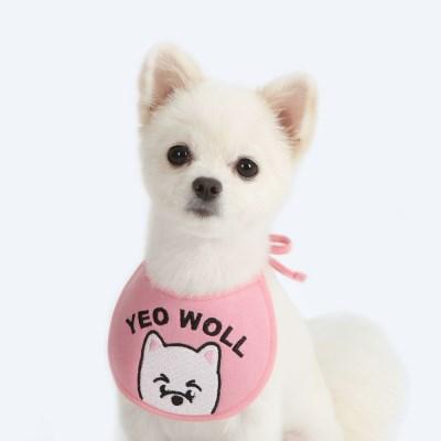 빼꼼 custom scarf bib (pink)