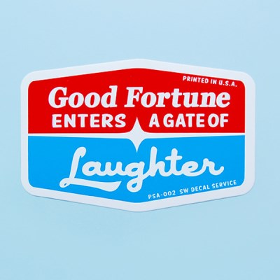 레이싱 스티커-Good Fortune Laughter