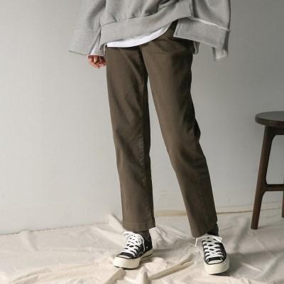 cotton banding straight pants