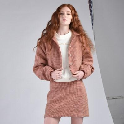 [hand me down/핸드미다운] Marshmello Tweed Skirt – Pink