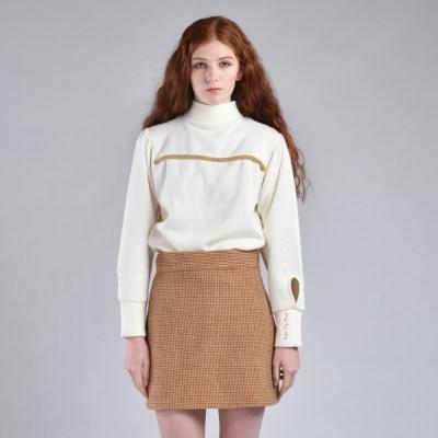 [hand me down/핸드미다운] Marshmello Tweed Skirt – Brown