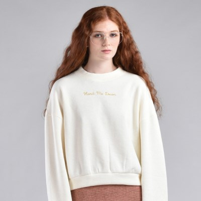 [hand me down/핸드미다운] Basic Knit Sweatshirt