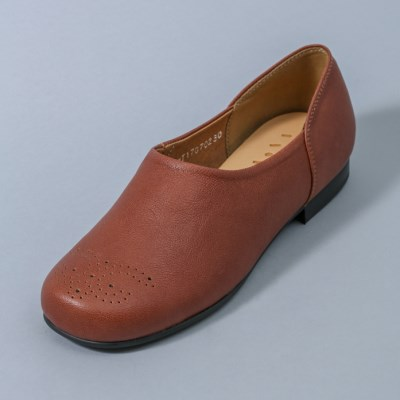 HS1707 Simple Brogue Shoes_Brown
