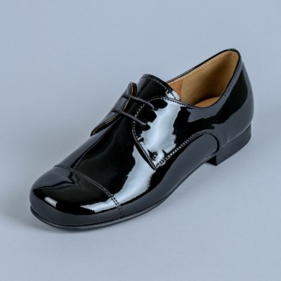 HS1706 Derby Shoes_Black Patent