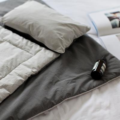 [키미티즈] 사계절 낮잠이불세트 그레이무지 (베개+이불+패드)