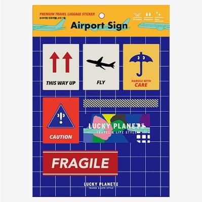[럭키플래닛] 프리미엄 리폼스티커_Airport Sign