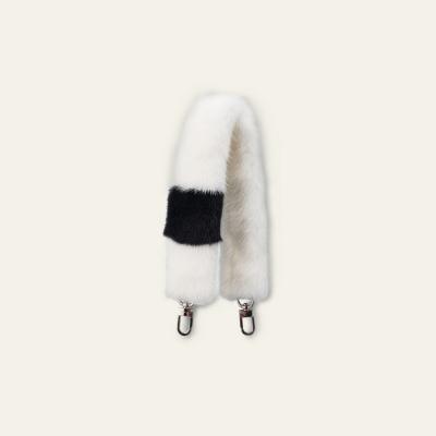 Short fur strap_White