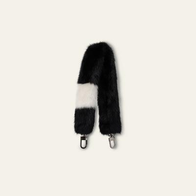 Short fur strap_Black