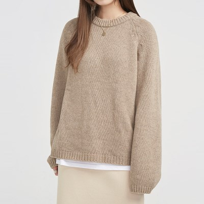 sweety simple wool knit_(776305)