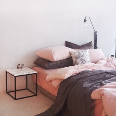 극세사 에스타도 천연염색 호텔 베딩 -베이지핑크 (더블/퀸)