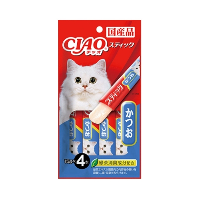 이나바 챠오 츄르 스틱 4P 가다랑어맛 (4SC-82)_(2401306)