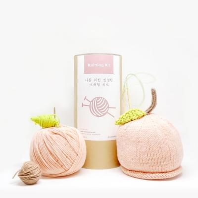 니팅키트- 아기 복숭아 모자