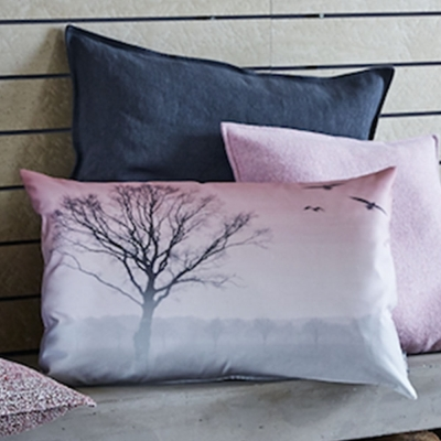 PROFLAX - LATER Cushion Cover (Grey & Rose)