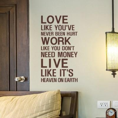 사랑 일 삶 (B타입) 명언 그래픽스티커
