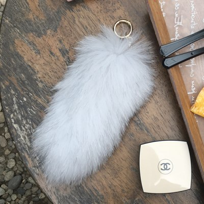 FOX FUR TAIL - White