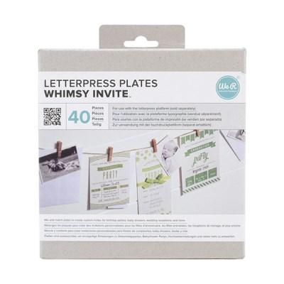 레터프레스 플레이트-Whimsey Invite