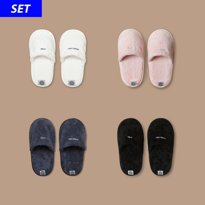 THE TOWEL SLIPPERS (2SET)