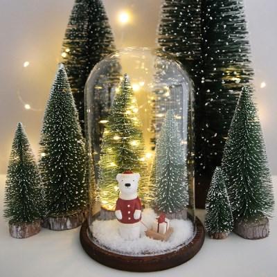 LED 크리스마스트리 유리돔_썰매 곰