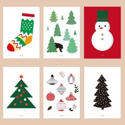 겨울 인테리어 디자인 포스터 M 윈터 원더랜드 12종 중형(A3) 모음