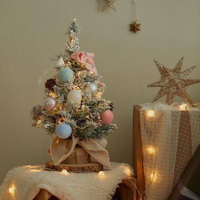 크리스마스 미니트리 풀세트 눈꽃파스텔