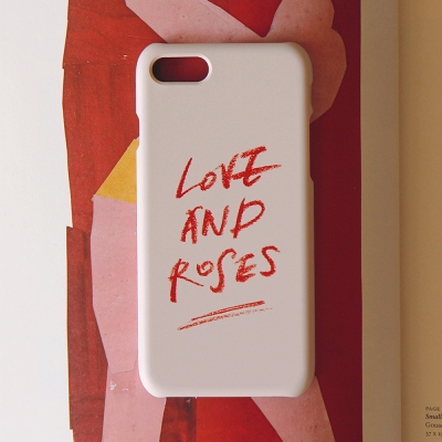 Calligraphy Phone case _ LOVE AND ROSES