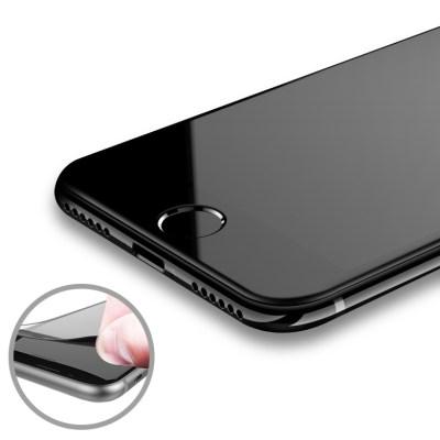 (1+1) [아이폰7/7+,8/8+] 샤이니 카본 3D 풀커버 강화유리