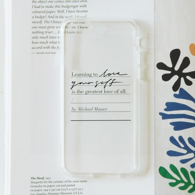 Calligraphy Phone case _ LOVE YOURSELF (JELLY BLACK)