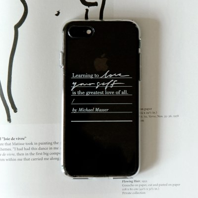 Calligraphy Phone case _ LOVE YOURSELF (JELLY WHITE)
